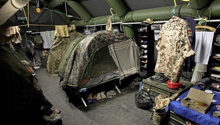 독일군 텐트 수준