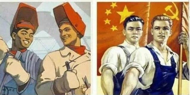 옛 소련&중국 포스터.