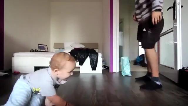 아빠와 아기 비보이