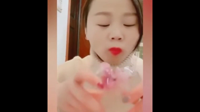 맛도 나는지 궁금한 중국 얼음 먹방